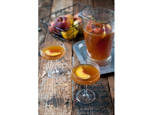 o Beeroness`s Beer Sangria is perfect for serving large groups.