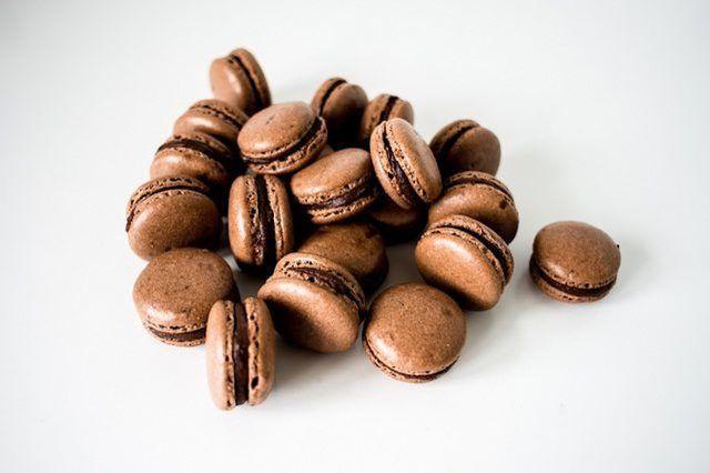 macarons de chocolate don`t take long to make.
