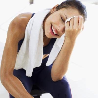 Mulher após o treino