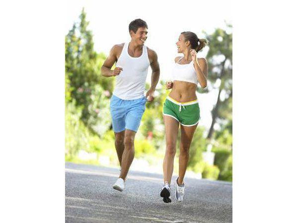 casal de jogging