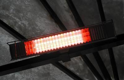 aquecedor de infravermelhos no toldo.