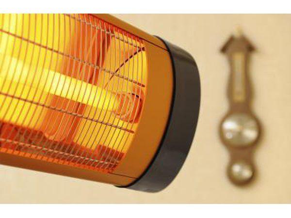 forma de cilindro aquecedor de infravermelhos.