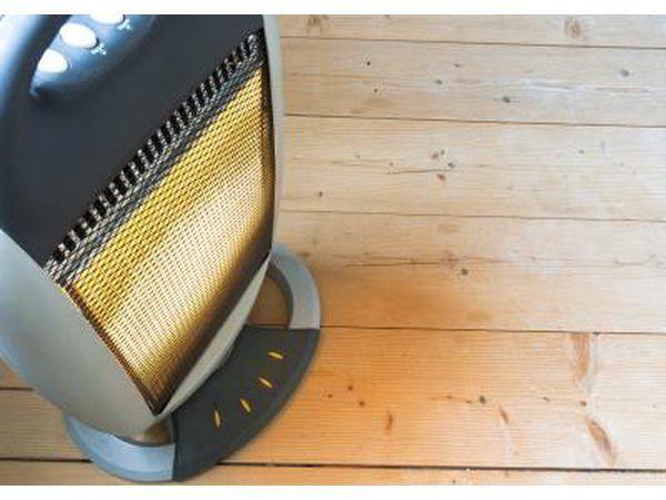 aquecedor elétrico no chão, aquece apenas um quarto.