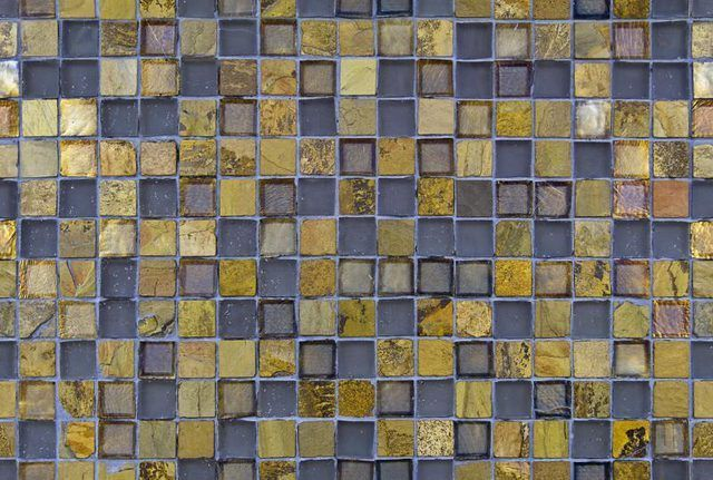 Variedade de telhas de vidro texturizado