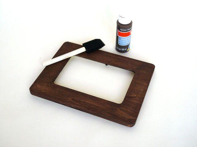Pintar o quadro e permitir que ele para secar.
