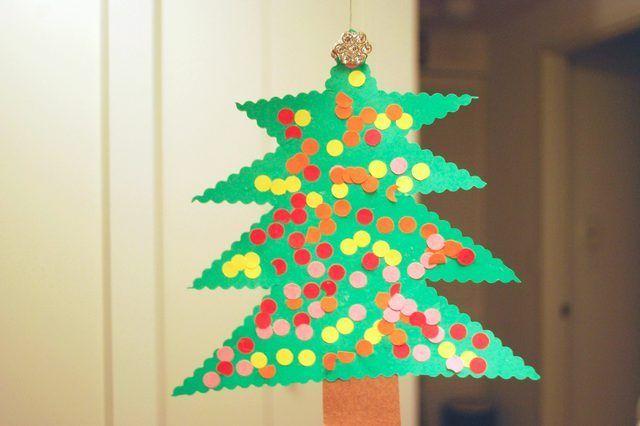 Caseiros construção Decorações de Natal de papel