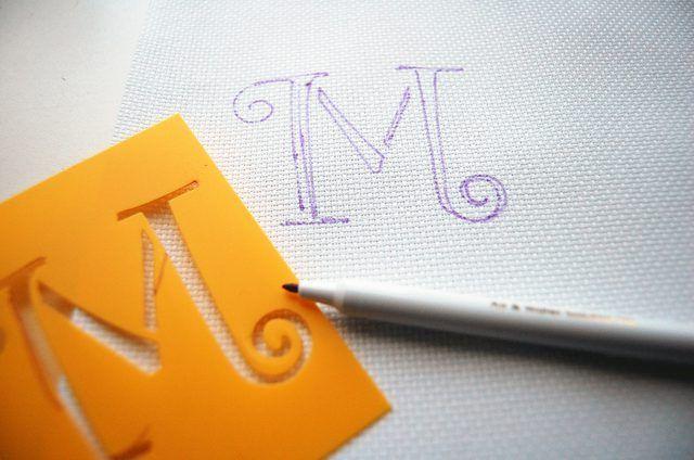 stencil bordados
