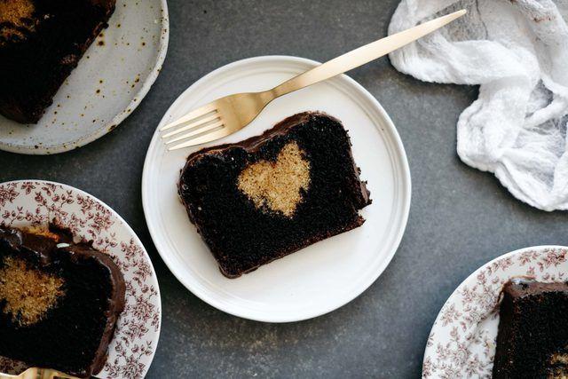 Como fazer um bolo escondido Coração