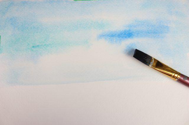 Pinte sobre a água.