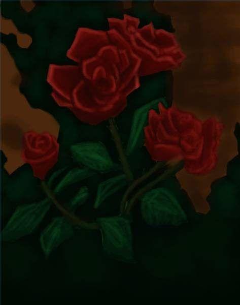 Pintar rosas com acrílicos