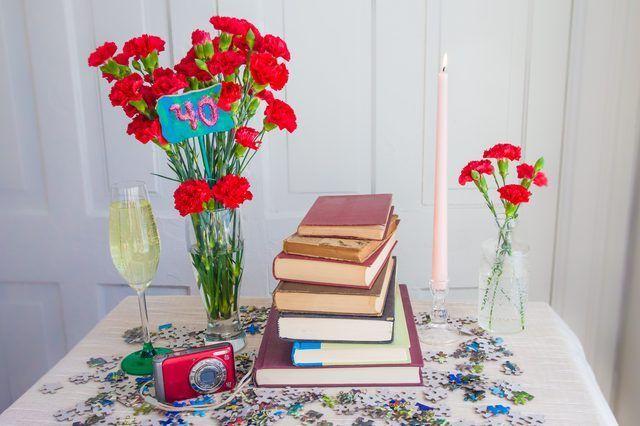 Idéias para Centerpieces baratos para a 40th festa de aniversário