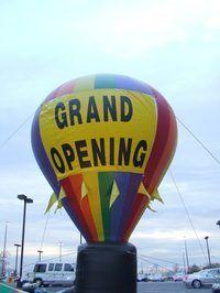 Balões chamar a atenção para lançar eventos.