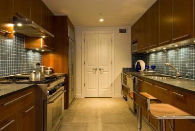 Cozinha Design Ideas com armários de café expresso