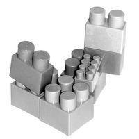 Os brinquedos de blocos de construção popular pode ser usado para trazer colegas de trabalho em conjunto.