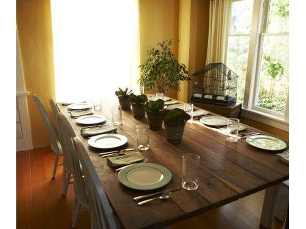 Ajuste a tabela para o partido de jantar
