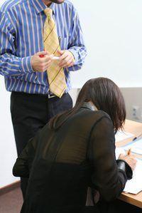 Apresentando uma lição é muitas vezes uma parte de uma entrevista de ensino.