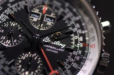 relógio Breitling, close-up