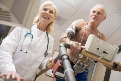 paciente submetido a um teste ergométrico