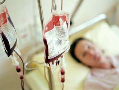 bolsas de sangue no hospital