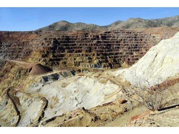mina de cobre a céu aberto no Chile